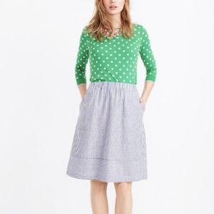 J.CREW Striped Pull On Skirt A Line